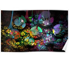 3D Bubble Garden Poster