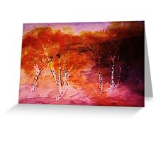 Aspens in the wash, watercolor Greeting Card
