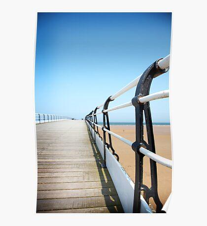 Saltburn Pier railings Poster
