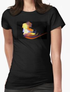 Orange Caldera Womens Fitted T-Shirt
