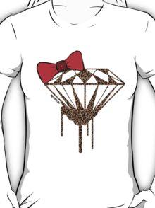 DIAMOND WITH A BOW TIE W/ LEOPARD PRINT :D T-Shirt