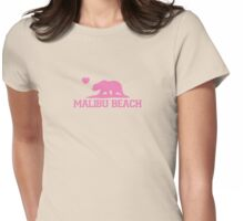 Malibu - California. Womens Fitted T-Shirt