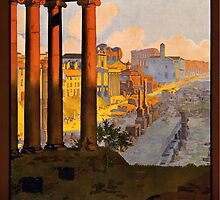 Vintage Travel Poster: Rome by donatepurple