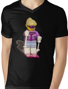 Lego skier Mens V-Neck T-Shirt