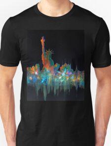 Liberty And New York Skyline T-Shirt