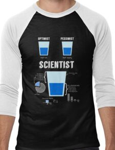 Optimist... pessimist... SCIENTIST! Men's Baseball ¾ T-Shirt