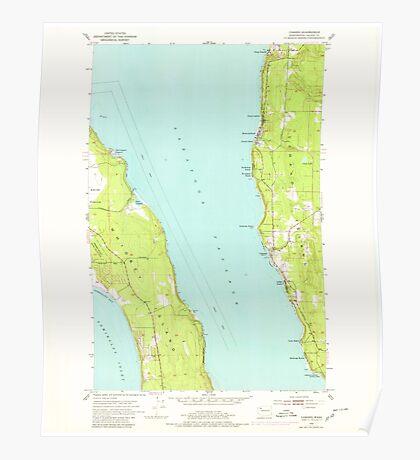USGS Topo Map Washington State WA Camano 240305 1953 24000 Poster