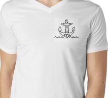 Anchor Mens V-Neck T-Shirt