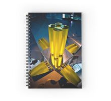 Abstract 3d shapes Yellow Cones  Spiral Notebook