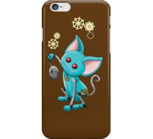 Robot Cat with mouse iPhone Case/Skin
