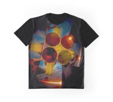 Abstract 3d shapes Yellow Cones  Graphic T-Shirt