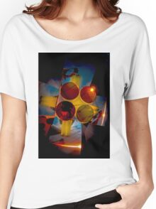 Abstract 3d shapes Yellow Cones  Women's Relaxed Fit T-Shirt