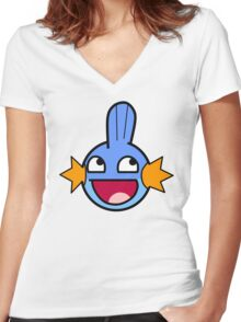'Epic' Mudkip Women's Fitted V-Neck T-Shirt