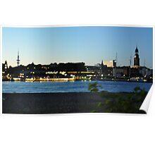 Hamburg sunset Poster
