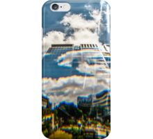 Reflection of building in an odd shaped mirror. iPhone Case/Skin