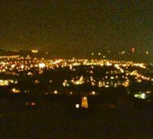 Shanakiel view at night Sticker