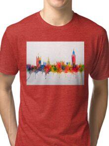 Westminster And Big Ben Skyline Tri-blend T-Shirt