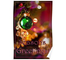 Green Bauble Poster