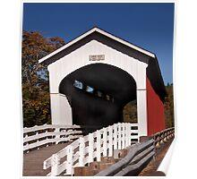 Currin Covered Bridge near Cottage Grove Oregon Poster
