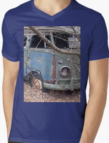 Weathered Old Hippie Bus Mens V-Neck T-Shirt