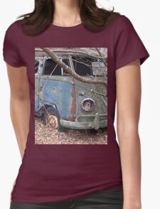 Weathered Old Hippie Bus Womens Fitted T-Shirt