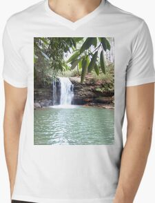 Wilderness Waterfall Mens V-Neck T-Shirt