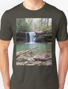 Rustic Appalachian Waterfall Scene T-Shirt