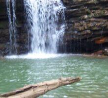 Rustic Appalachian Waterfall Scene Sticker