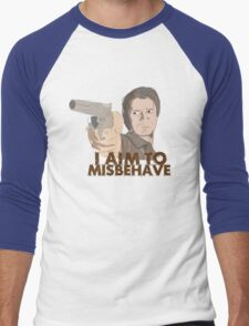 I Aim To Misbehave Men's Baseball ¾ T-Shirt