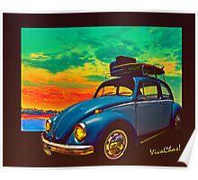 VW Surf Rod Poster