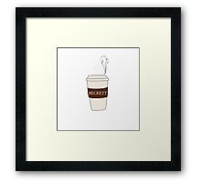 Beckett coffee Framed Print