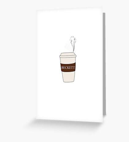 Beckett coffee Greeting Card
