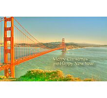 Merry Christmas Greetings from San Francisco Photographic Print