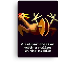 Monkey Island - Rubber chicken with a pulley in the middle Canvas Print