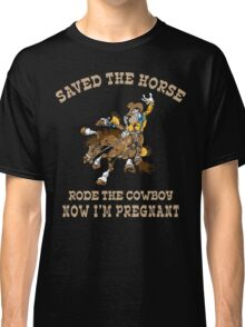 Funny Cowgirl Mom To Be Classic T-Shirt
