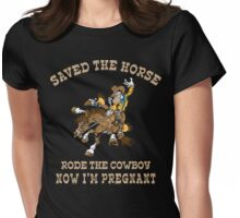 Funny Cowgirl Mom To Be Womens Fitted T-Shirt