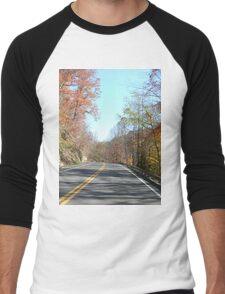Country Road in the Appalachian Mountains Men's Baseball ¾ T-Shirt