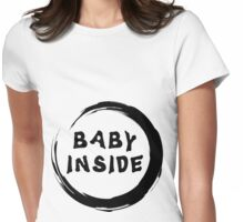 Mom To Be Baby Inside Womens Fitted T-Shirt