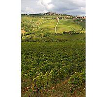 Panzano village in Chianti - Italy Photographic Print