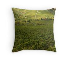 Panzano village in Chianti - Italy Throw Pillow