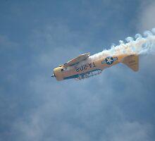 Harvard Inverted - And Smoking, Barossa Airshow, Australia 2011 by muz2142