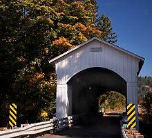 The Mosby Creek Covered Bridge near Cottage Grove Oregon by OrPhotoJohn
