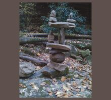 Awesome Stacked River Rock Tower  by dww25921