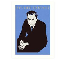 Roland Barthes Art Print