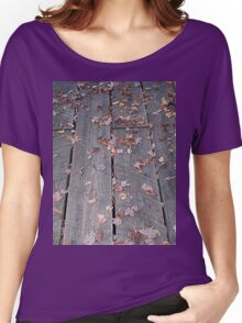 Weathered Boardwalk Hiking Trail Women's Relaxed Fit T-Shirt