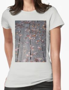 Weathered Boardwalk Hiking Trail Womens Fitted T-Shirt