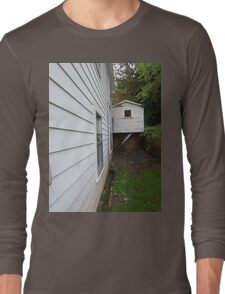 Side View of an Old Coal Camp House Long Sleeve T-Shirt