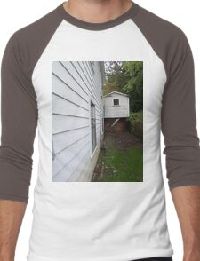 Side View of an Old Coal Camp House Men's Baseball ¾ T-Shirt