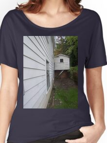 Side View of an Old Coal Camp House Women's Relaxed Fit T-Shirt