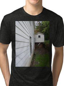 Side View of an Old Coal Camp House Tri-blend T-Shirt